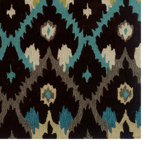 Trio Ikat Browns 5ftx7ft