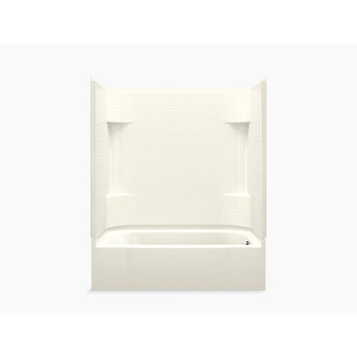 """Sterling - Accord® 60"""" x 30"""" bath/shower with right-hand drain - Biscuit"""