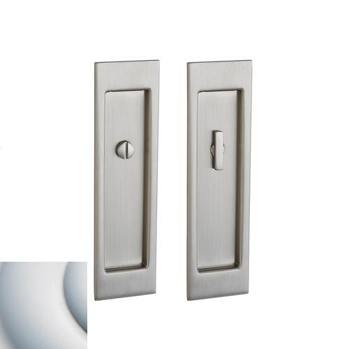 Baldwin - Satin Chrome PD005 Large Santa Monica Pocket Door