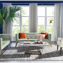 See Details - Divani Casa Bixby Modern Light Green Velvet & Gold Sofa
