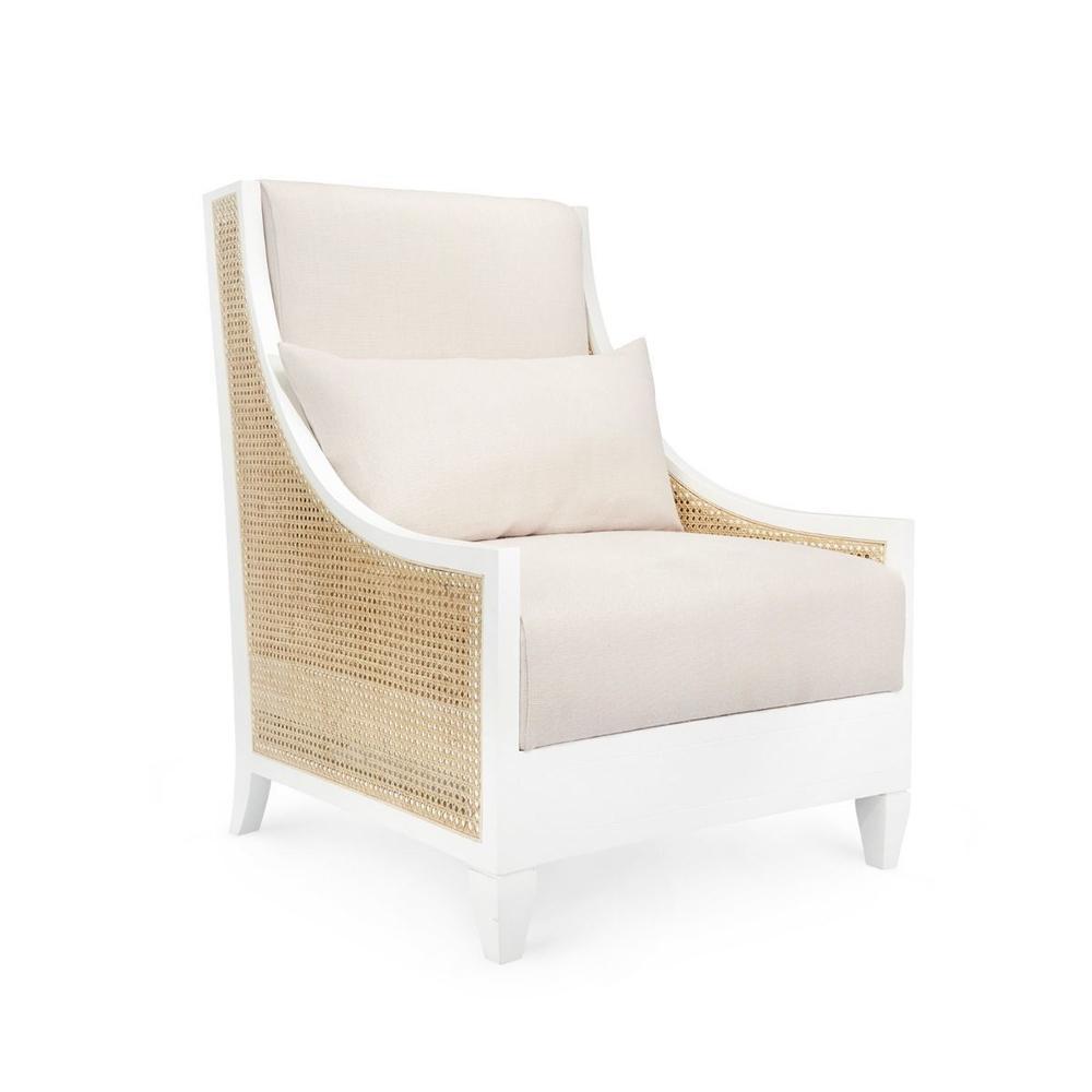 Raleigh Club Chair, White
