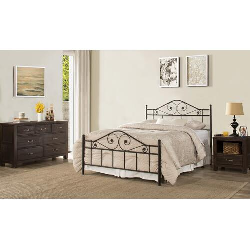 Gallery - Harrison Queen Bed With Rails - Textured Black