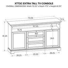 XT72C Extra Tall Custom TV Console
