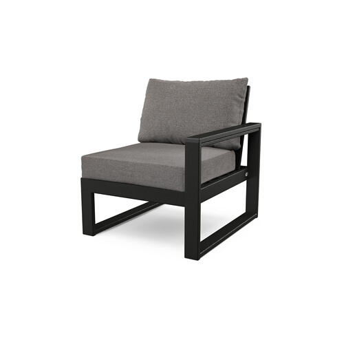 Black & Grey Mist EDGE Modular Right Arm Chair