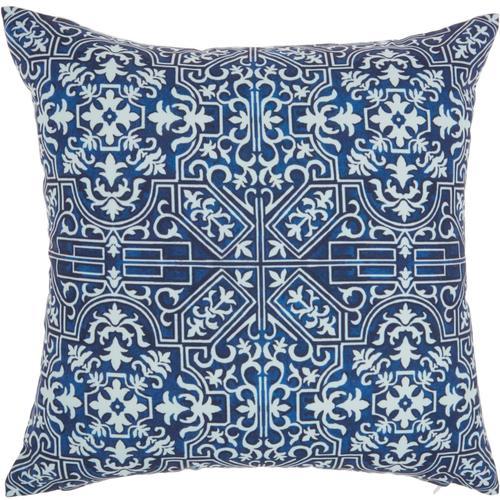 "Outdoor Pillows Bj078 Navy 18"" X 18"" Throw Pillow"