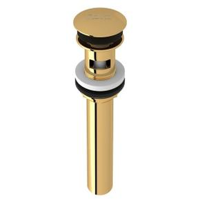 "English Gold Slotted Touch Seal Dome Drain With 6"" Tailpiece"