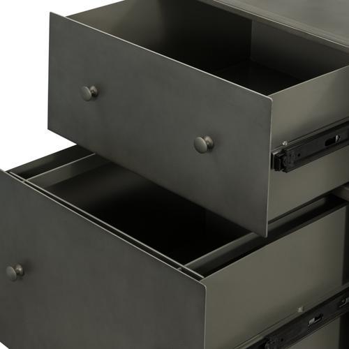 Gunmetal Finish Shadow Box Desk