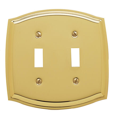 Baldwin - Polished Brass Colonial Double Toggle