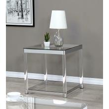 View Product - Contemporary Chrome Side Table