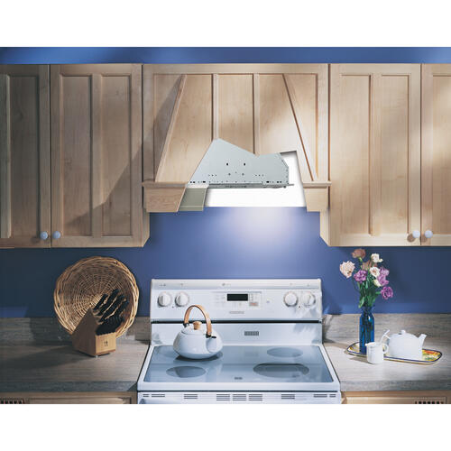 Broan® 20-1/2-Inch Custom Range Hood Power Pack, Silver Finish, 390 CFM
