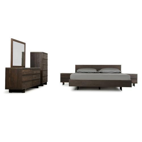 VIG Furniture - Modrest Selma Modern Dark Aged Oak & Concrete Bedroom Set