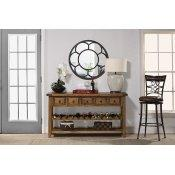 Tuscan Retreat(r) Wine Rack Hall Table With 5 Drawers - Old World Pine