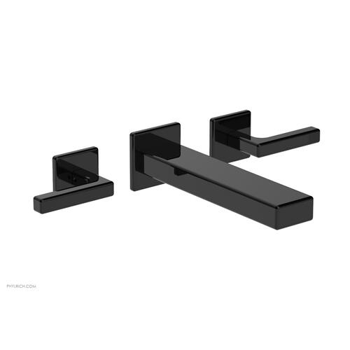 MIX Wall Lavatory Set - Lever Handles 290-12 - Gloss Black