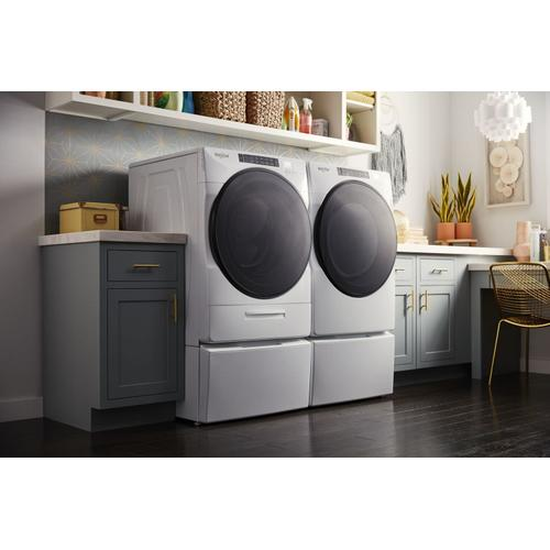 Gallery - 7.4 cu. ft. Front Load Electric Dryer with Steam Cycles White
