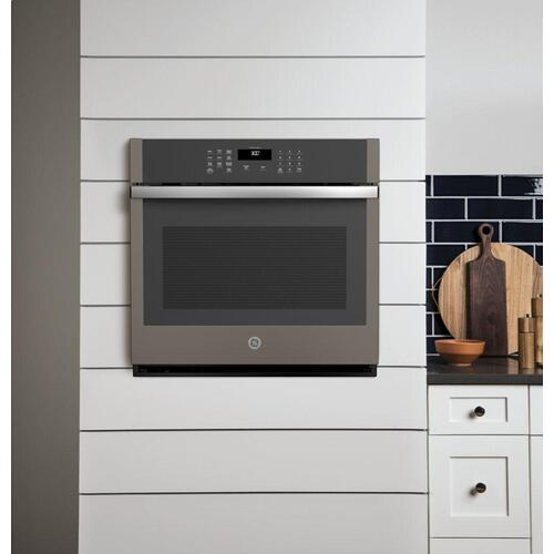 "GE® 30"" Smart Built-In Self-Clean Single Wall Oven with Never-Scrub Racks"