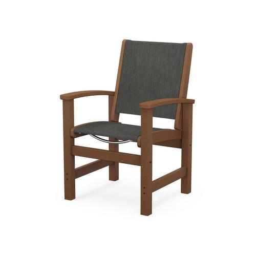 Coastal Dining Chair in Teak / Ember Sling
