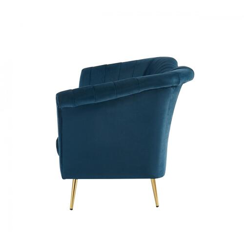 VIG Furniture - Divani Casa Rilo - Modern Blue Fabric Sofa
