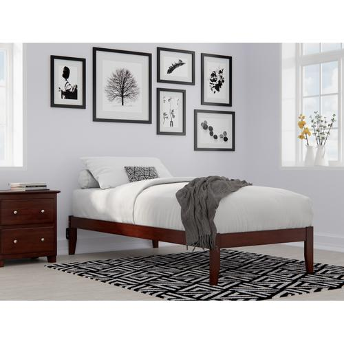 Colorado Twin Extra Long Bed with USB Turbo Charger in Walnut