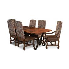 Malaga Hand Hammered Copper Top Table / Laredo Side Chairs
