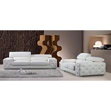 Product Image - Divani Casa Corinne Modern Tufted Leather Sofa Set with Headrests and Crystals