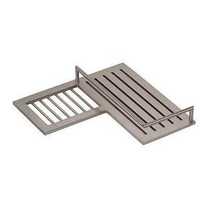 Satin Nickel Combination Corner Shower Shelf - Left