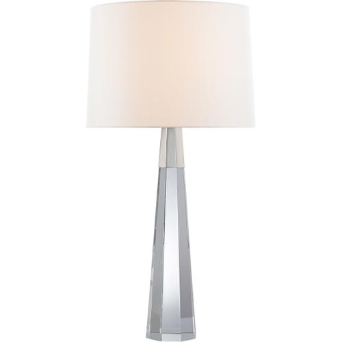 AERIN Olsen 33 inch 60 watt Crystal with Polished Nickel Table Lamp Portable Light