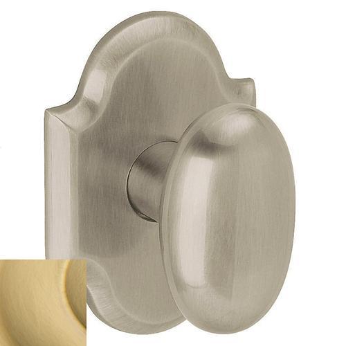 Baldwin - Lifetime Satin Brass 5024 Oval Knob