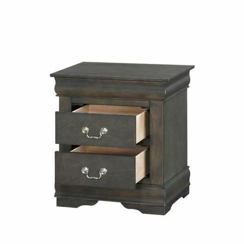 ACME Louis Philippe Nightstand - 26793 - Dark Gray