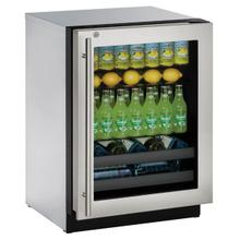 "3024bev 24"" Beverage Center With Stainless Frame Finish and Right-hand Hinge Door Swing (115 V/60 Hz Volts /60 Hz Hz)"