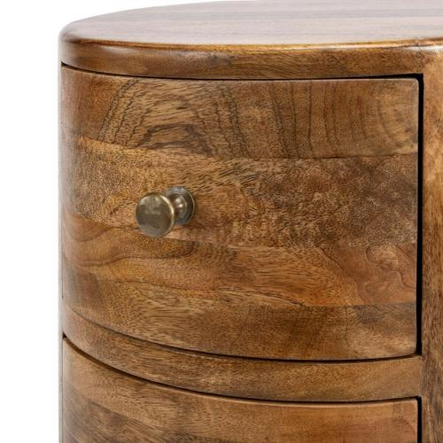 Butler Specialty Company - This storage pedestal is perfect for filling that neglected corner or other spot in your room. Individually handcrafted from solid mango wood, it features a provincia natural finish, antique-brass finished hardware and four drawers for convenient storage.