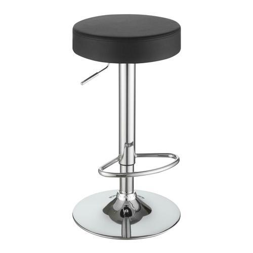 Coaster - Black Faux Leather Adjustable Bar Stool