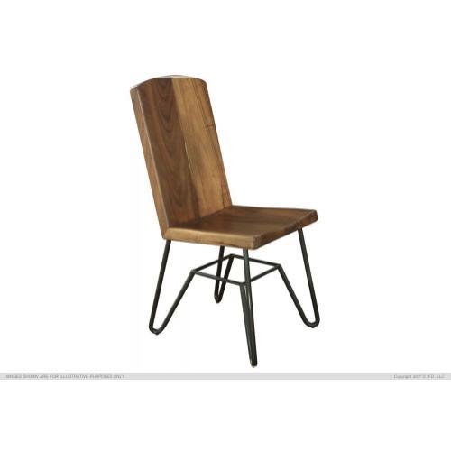 Solid Parota Chair w/ Iron base, Taos Finish