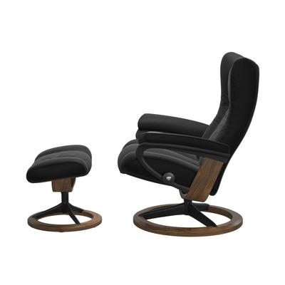 See Details - Stressless® Wing (M) Signature chair with footstool