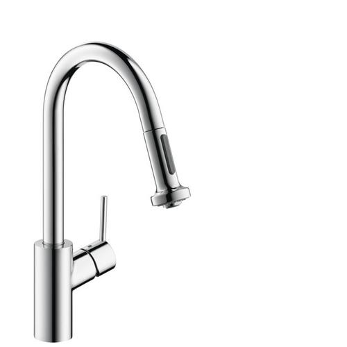 Chrome HighArc Kitchen Faucet, 2-Spray Pull-Down, 1.75 GPM