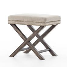 See Details - Heathered Twill Stone Cover Elyse Ottoman
