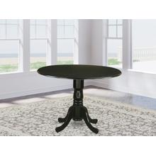 """Round Table with 29"""" Drop Leaves - Black"""