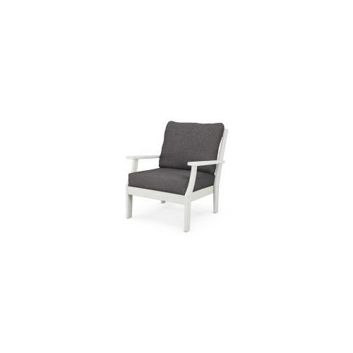 Product Image - Braxton Deep Seating Chair in Vintage White / Ash Charcoal