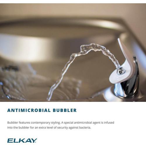 Elkay Versatile Cooler Wall Mount Bi-Level ADA Filtered, 8 GPH Light Gray Granite