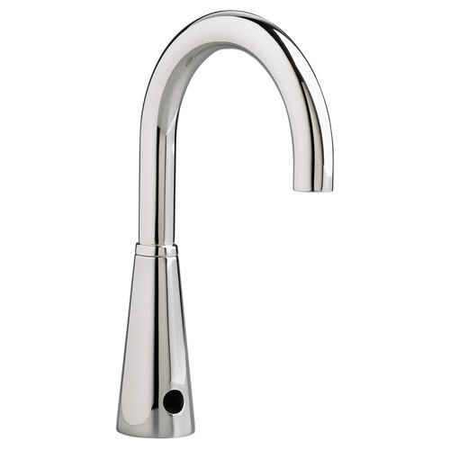American Standard - Selectronic Gooseneck Proximity Faucet, Battery Powered - Polished Chrome