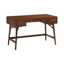 See Details - Transitional Walnut Writing Desk