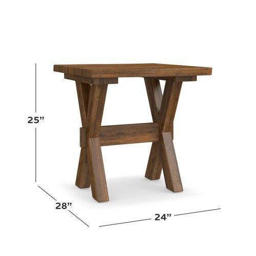 Crossbuck Maple Live Edge End Table