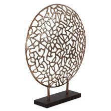 View Product - Bronze Aluminum Branch Disk Sculpture