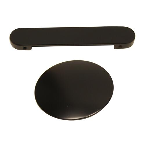 """Yarborough 61"""" Round Acrylic Tub with Integral Drain and Overflow - Matte Black Drain and Overflow"""
