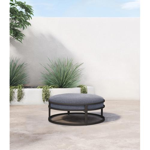 Faye Navy Cover Riya Outdoor Ottoman