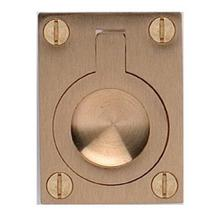 Product Image - Rectangular Drop Ring in US4 (Satin Brass, Lacquered)