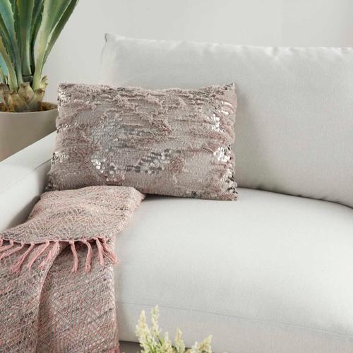 "Sofia Vv212 Grey 14"" X 20"" Throw Pillow"