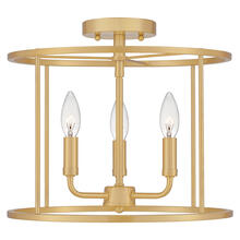 See Details - Abner Semi-Flush Mount in Aged Brass