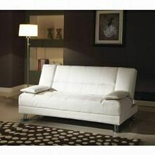 ACME Fae Adjustable Sofa w/2 Pillows - 57079 - White PU