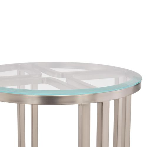 Chairside Table Silver Mist