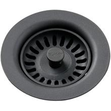 View Product - Elkay Polymer Drain Fitting with Removable Basket Strainer and Rubber Stopper Charcoal